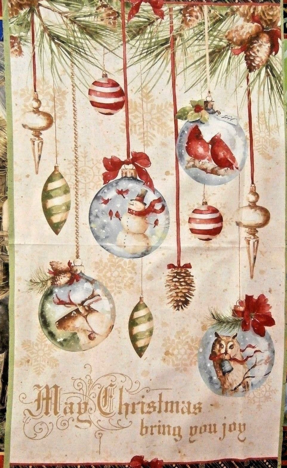 Woodland Holiday Panel