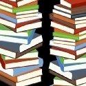 Educators Stacked Books on black