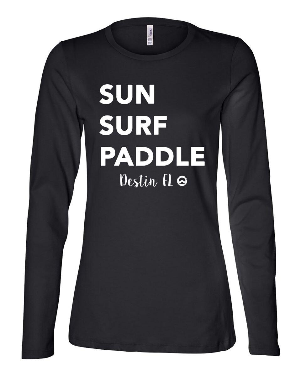 Wet. Inc Sun Surf Paddle Jersey Long  Sleeve Tee
