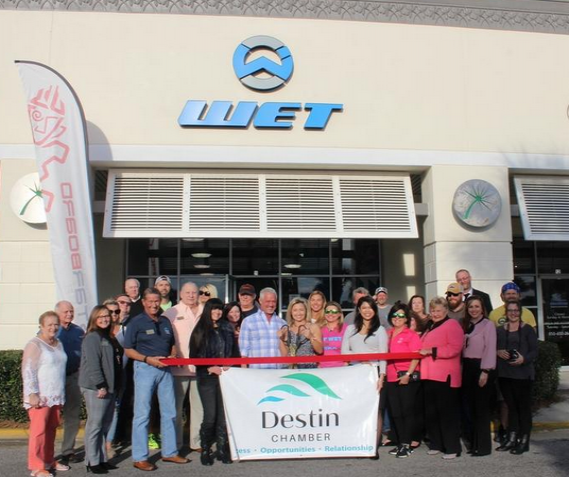 WET staand up paddle board center ribbon cutting