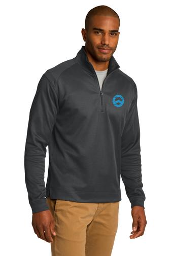 Vertical Texture 1/4-Zip Pullover- WET Inc Logo