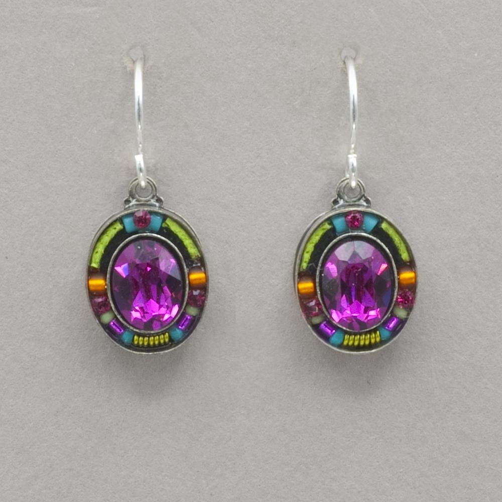 Firefly Pink Oval Earrings 0590
