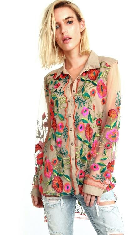 Aratta Intention Mesh Shirt Carrie