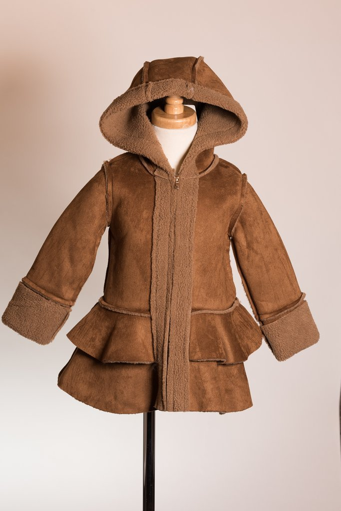 Brown Suede Like Coat Courtney