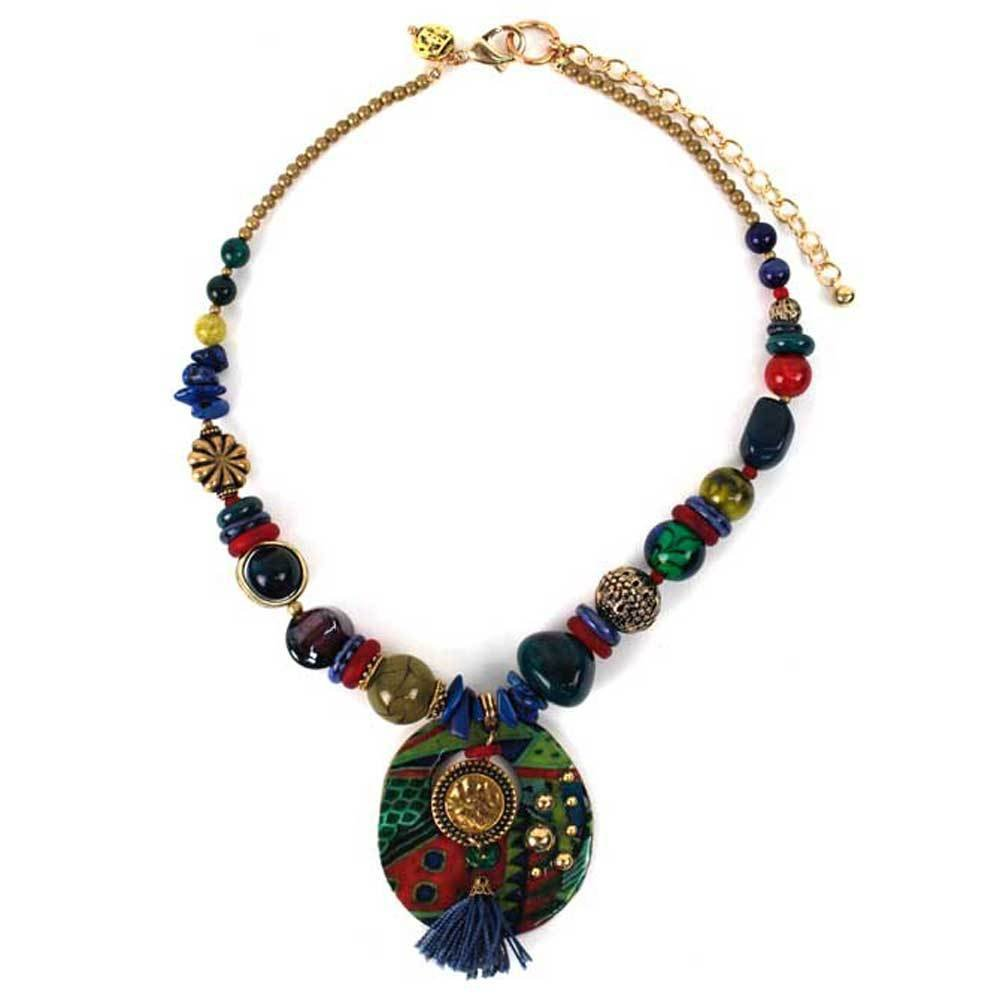 Treska Chaucer Beaded Pendant Necklace 0040