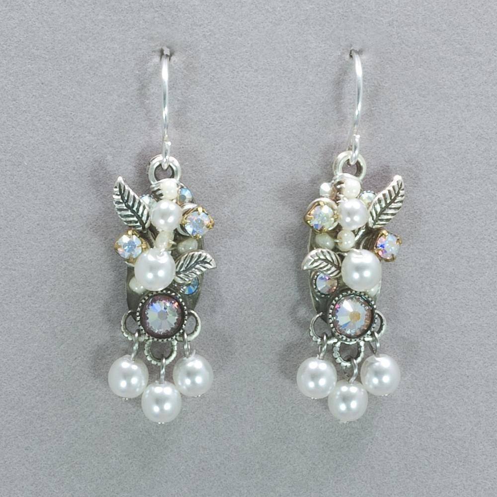 Firefly Flora Earring With Dangle-White Pearl 0062