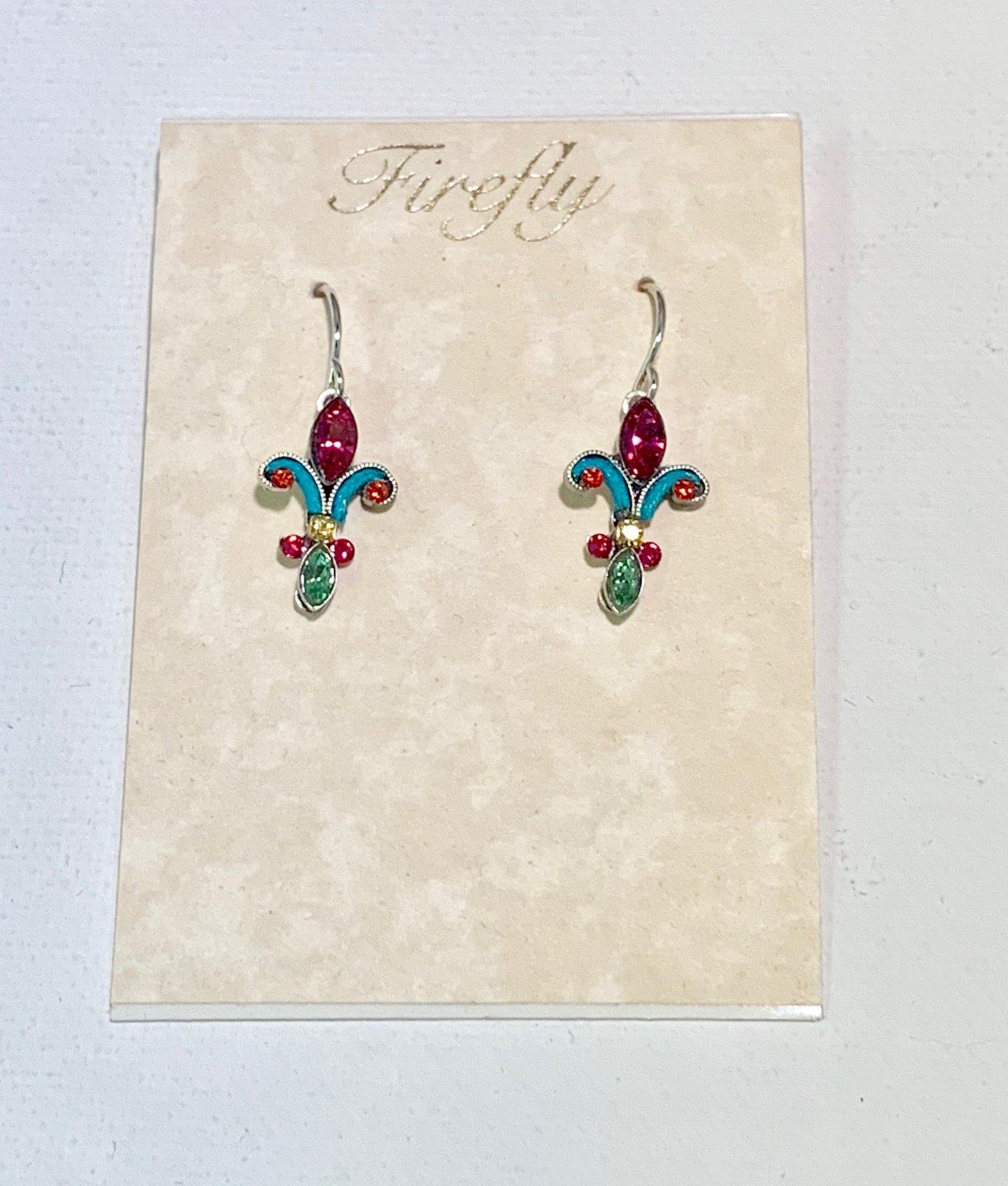 Firefly Fleur De Lis Stone Earrings 0011