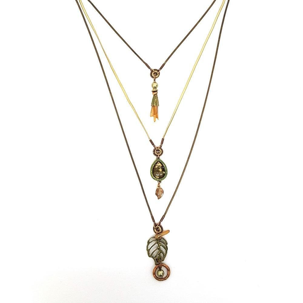 Forest 3 Strand High Low Necklace