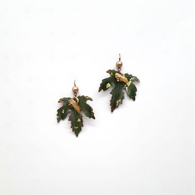 Treska Forest Large Leaf Drop Earring 0053