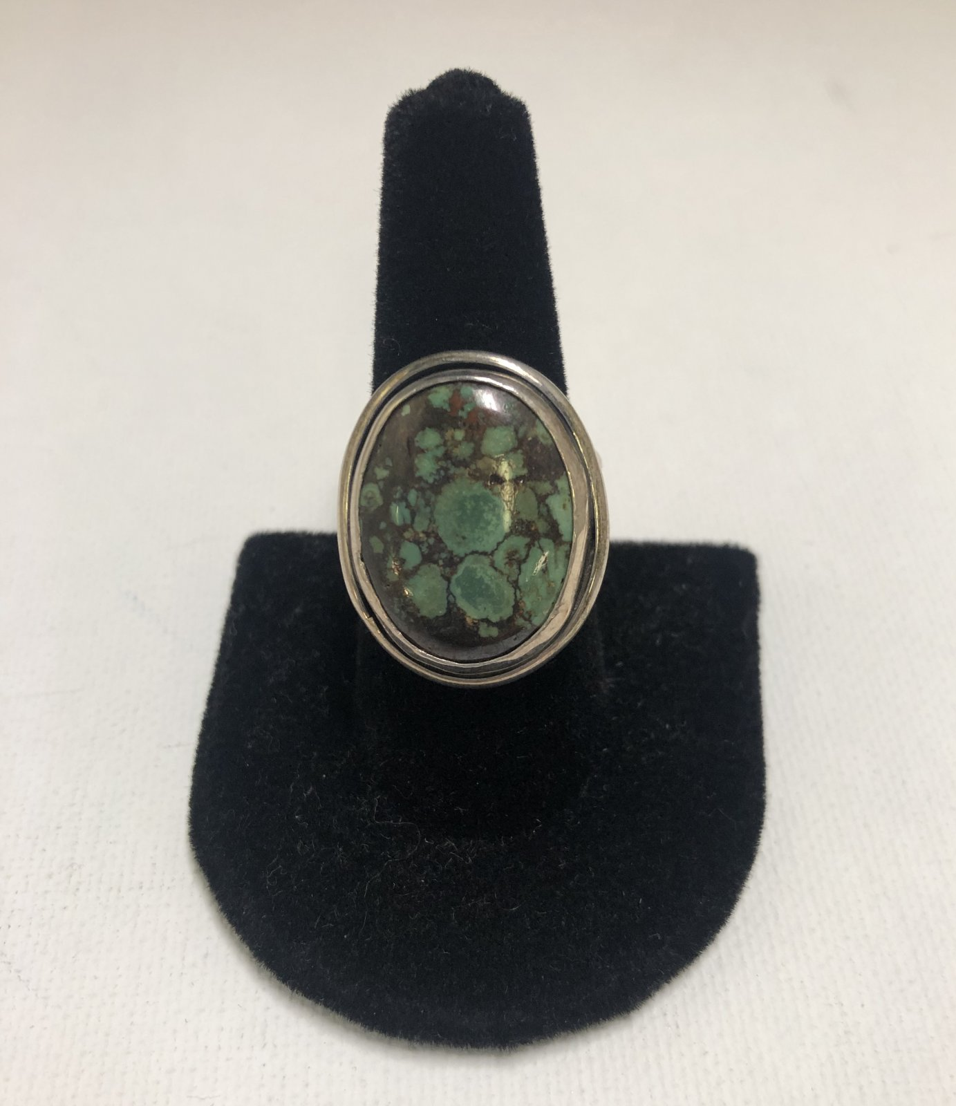 Duane Statser Sterling Silver & Turquoise Ring 0539