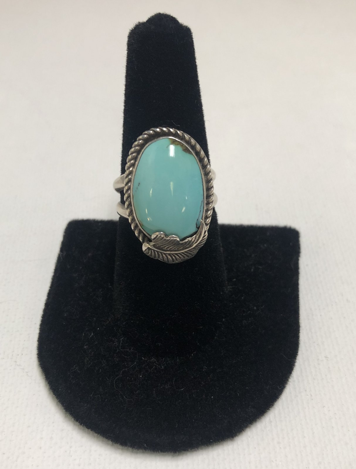Duane Statser Sterling Silver & Turquoise Ring 0542