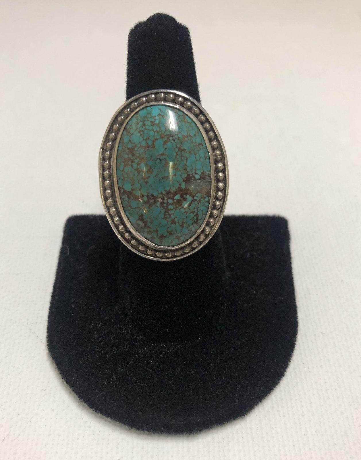 Duane Statser Sterling Silver & Turquoise Ring 0538