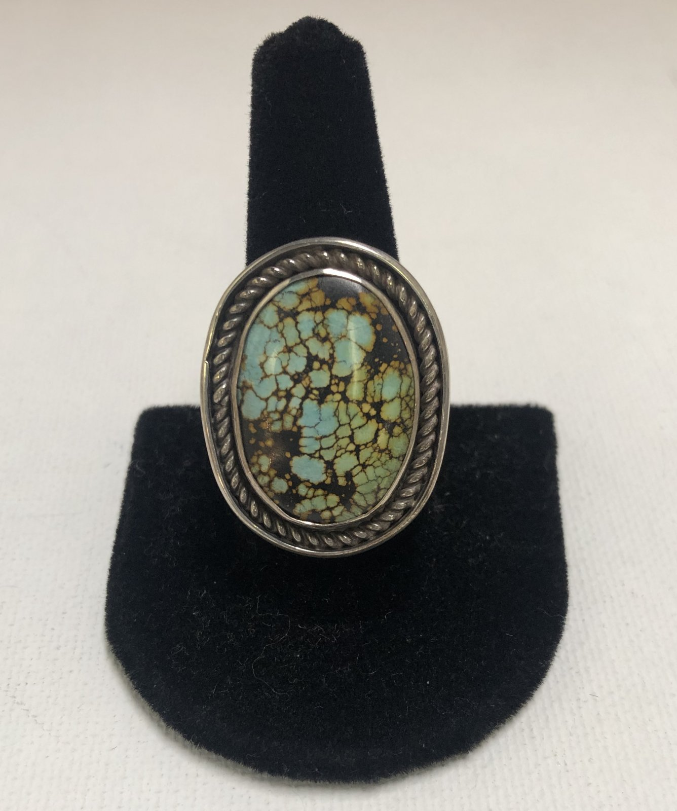 Duane Statser Sterling Silver & Turquoise Ring 0541