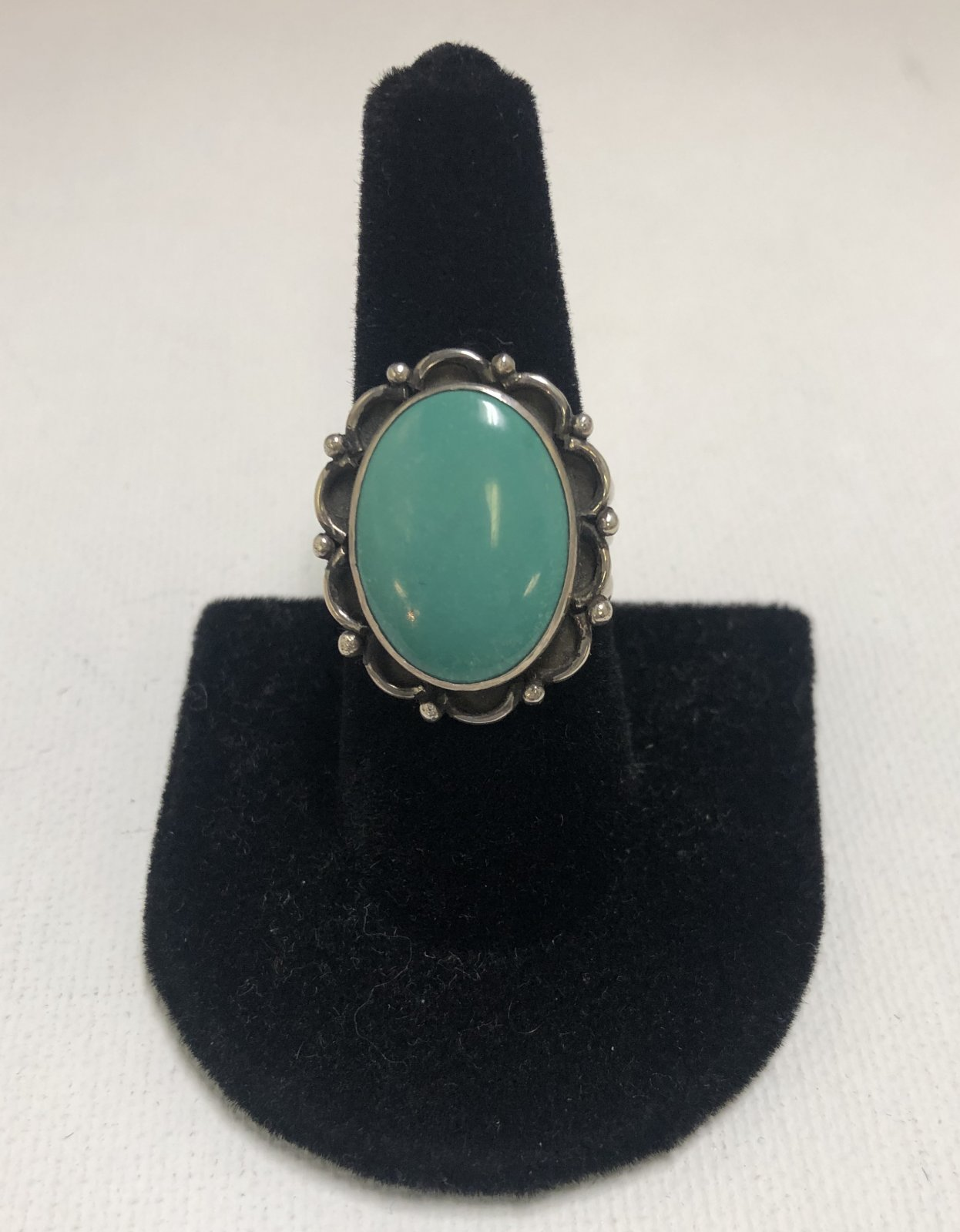 Duane Statser Sterling Silver & Turquoise Ring 0537
