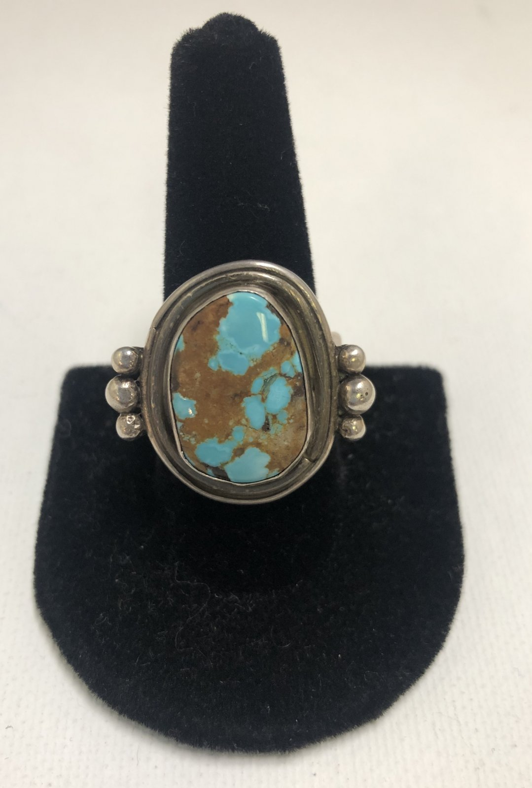 Duane Statser Sterling Silver & Turquoise Ring 0543