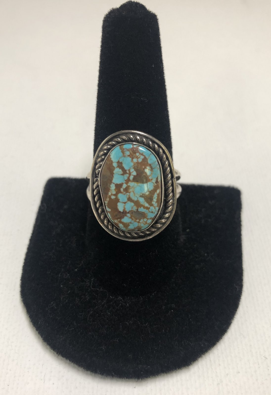 Duane Statser Sterling Silver & Turquoise Ring 0547