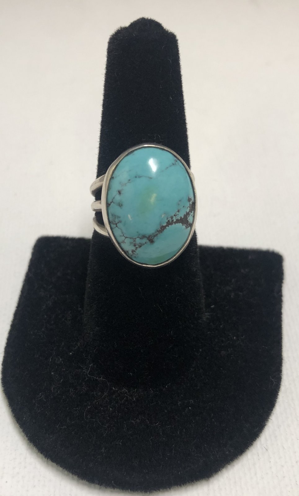 Duane Statser Sterling Silver & Turquoise Ring 0545