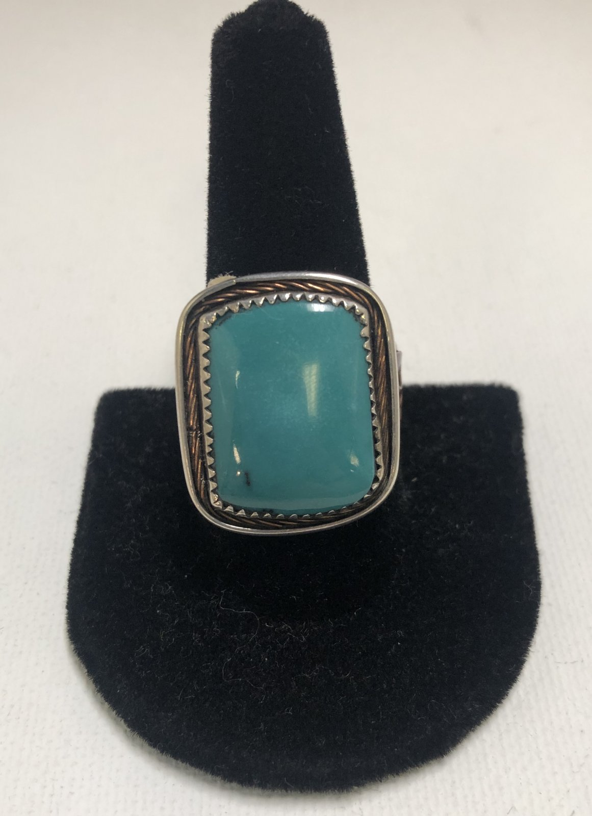 Duane Statser Sterling Silver & Turquoise Ring 0544