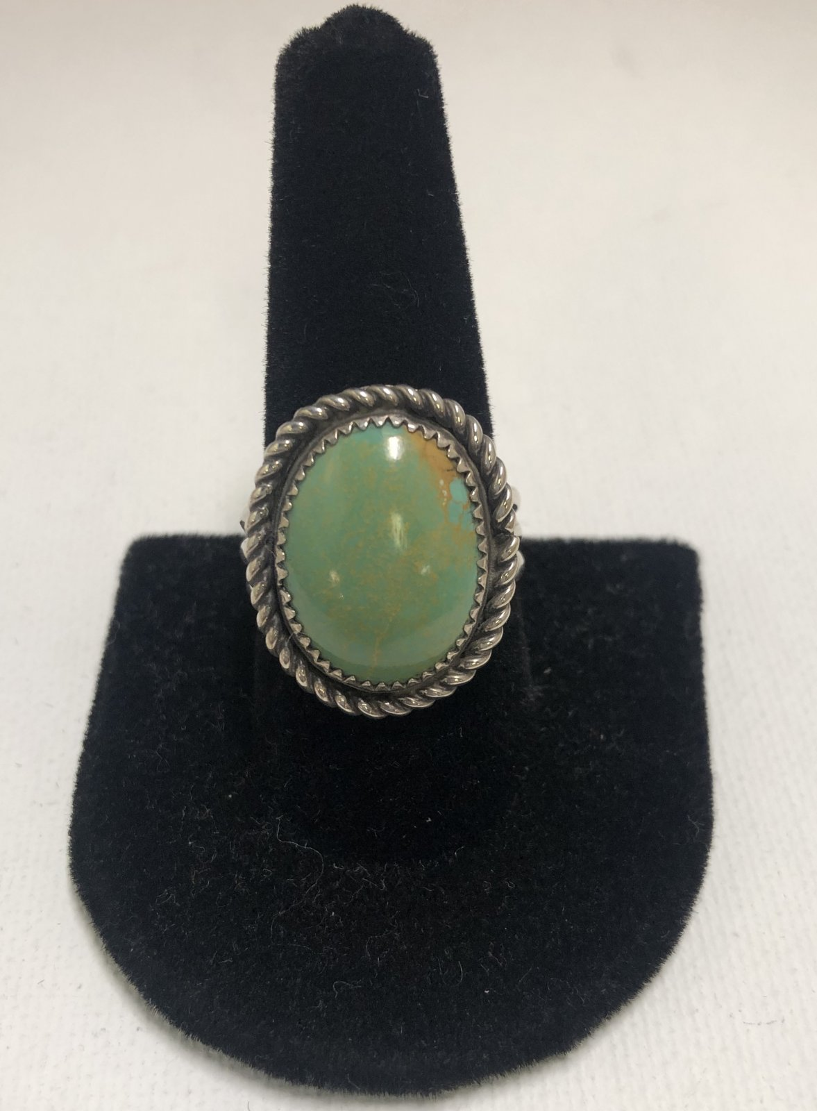 Duane Statser Sterling Silver & Turquoise Ring  0548