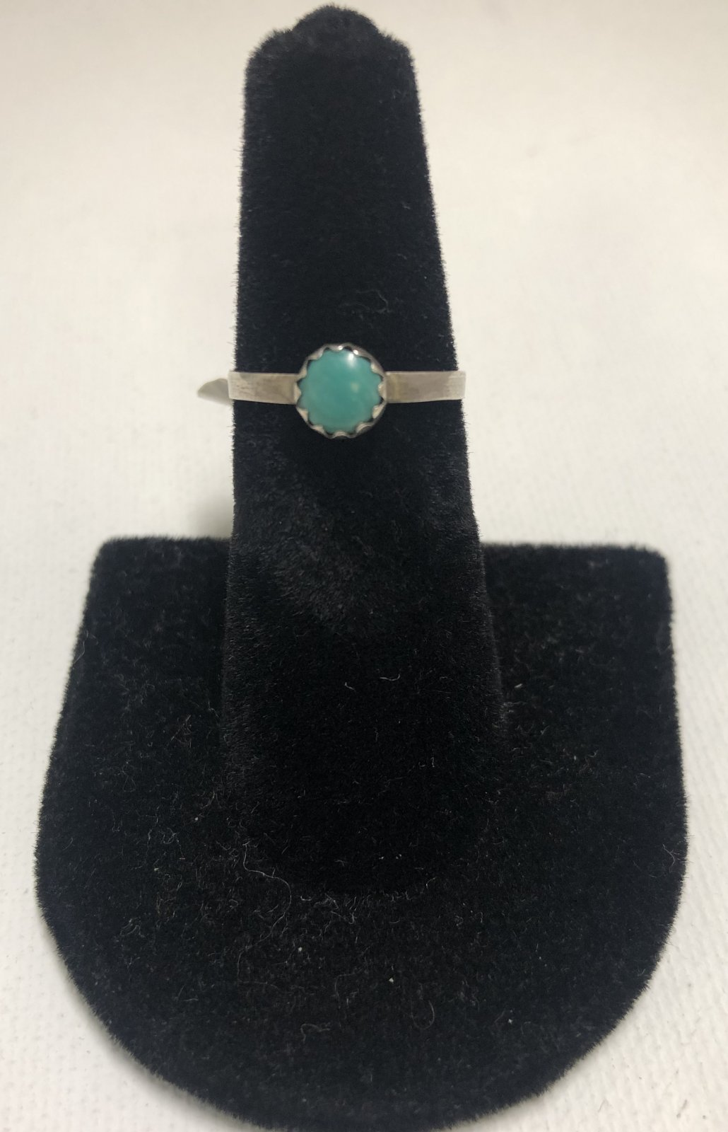 Duane Statser Sterling Silver & Turquoise Ring 0550