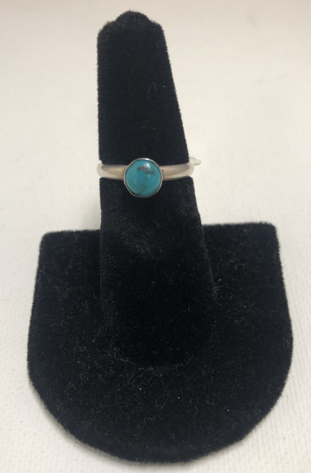 Duane Statser Sterling Silver & Turquoise Ring 0551