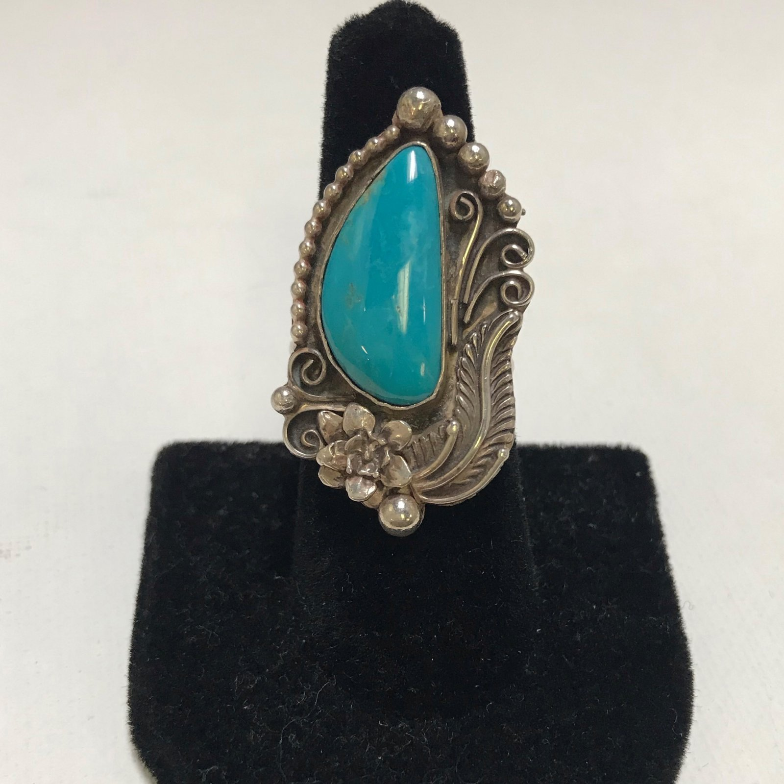 Susan Statser Sterling Silver & Copper Turquoise Ring 0536