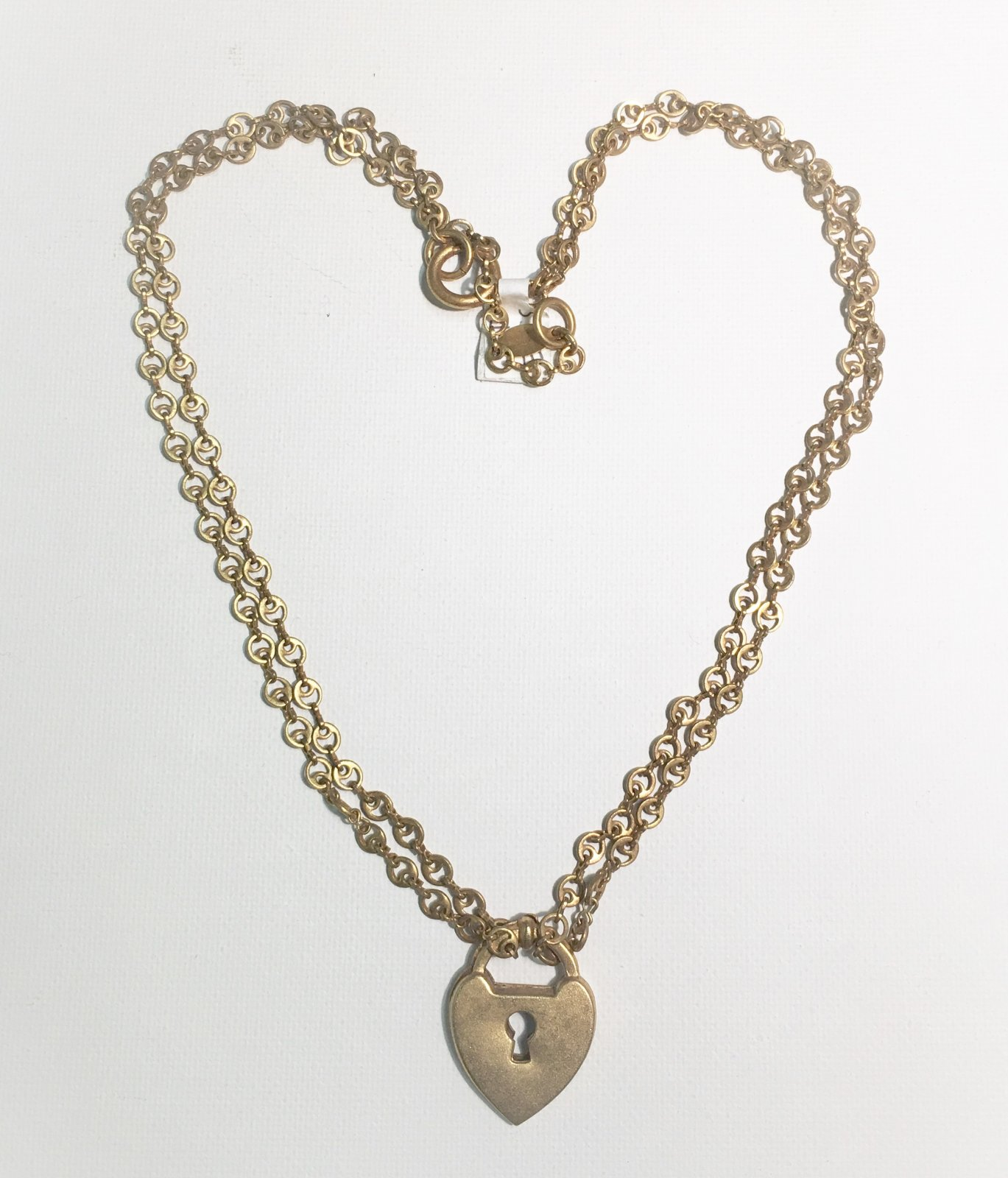 Lock Key Gold Necklace 0015