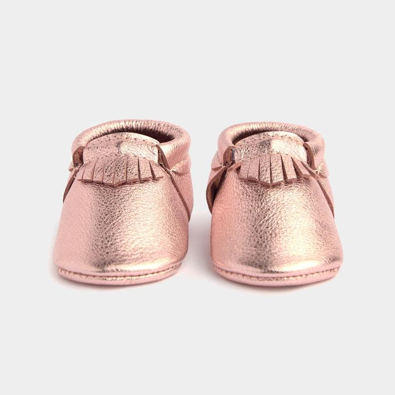 Freshly Picked Rose Gold Moccasins