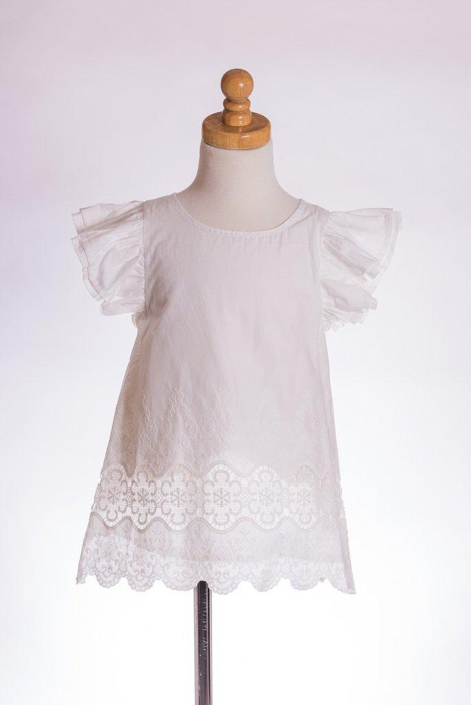 Charlotte-White Cap Sleeve Tunic