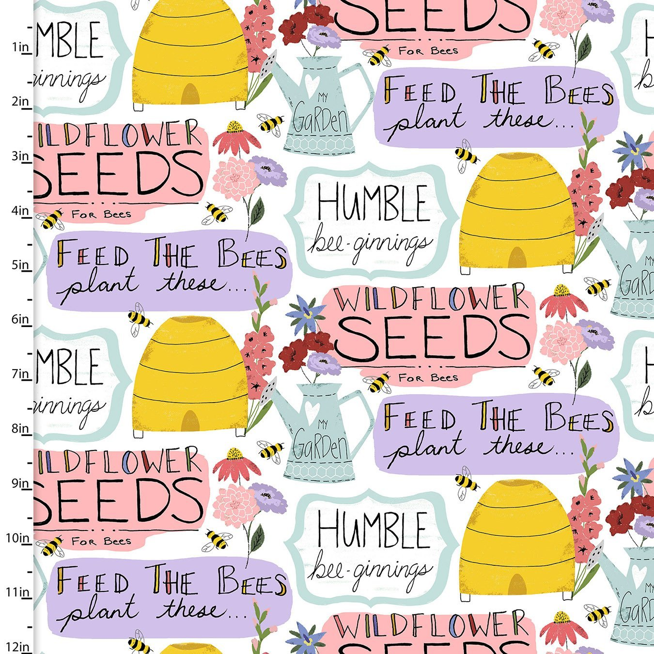 Garden Words 17215-WHT-CTN-D