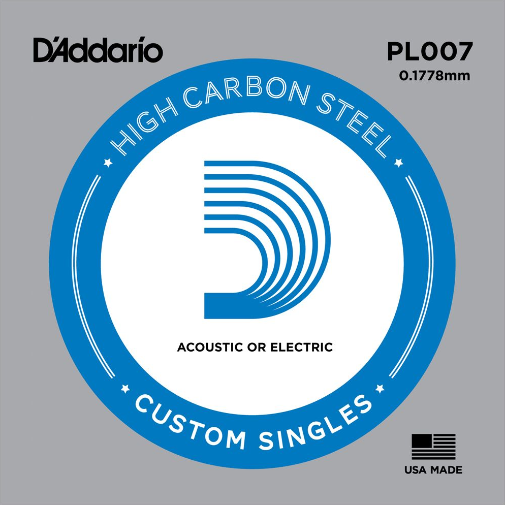 D'Addario Acoustic/Electric Plain Steel Single String