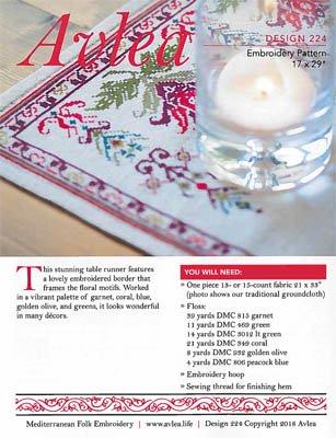 Avlea - Mediterranean Floral Table Runner Kit