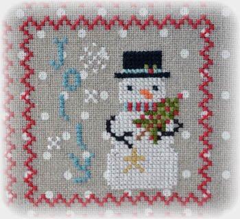 Annie Beez Folk Art - Snowy (2019 Snowman series #6)