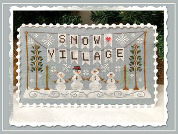 Country Cottage - Banner, Snow Village