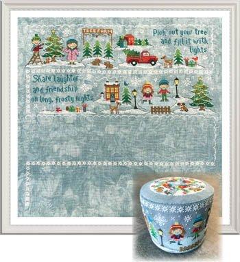 Tiny Modernist - Frosty Nights, Christmas Village