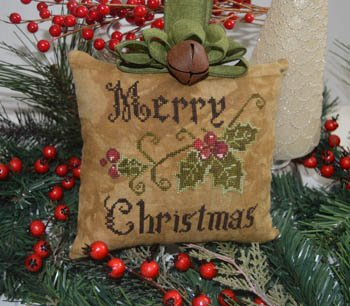 Abby Rose - Primitive Merry Christmas Pillow