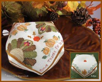 Designs By Lisa - Turkey Biscornu