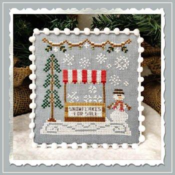 Country Cottage - Snowflake Stand Snow Village