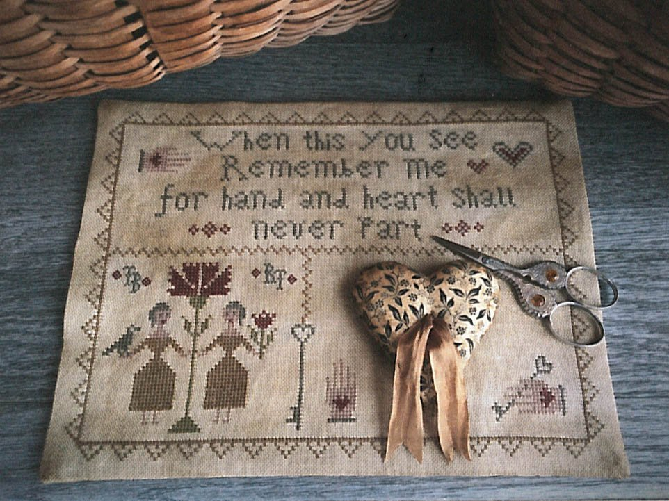 Scattered Seeds Samplers - Hand & Heart Stitcher's Mat