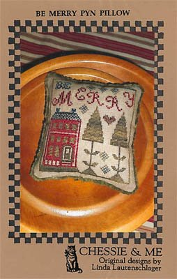 Chessie & Me - Be Merry Pyn Pillow