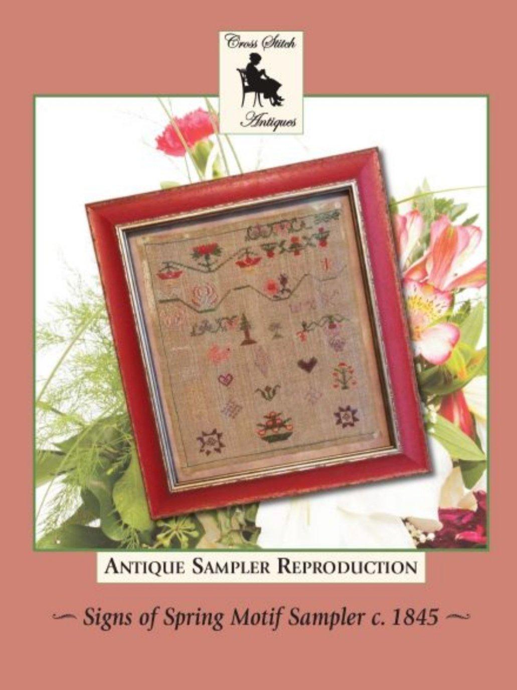 Cross Stitch Antiques - Signs of Spring Motif Sampler