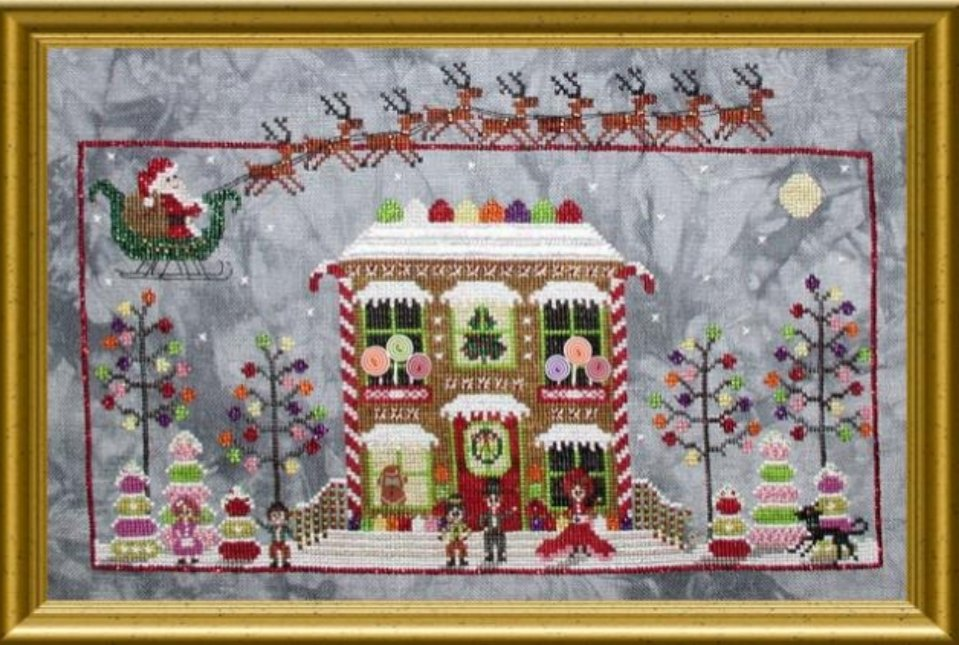 Praiseworthy Stitches - Gingerbread Cottage Drum