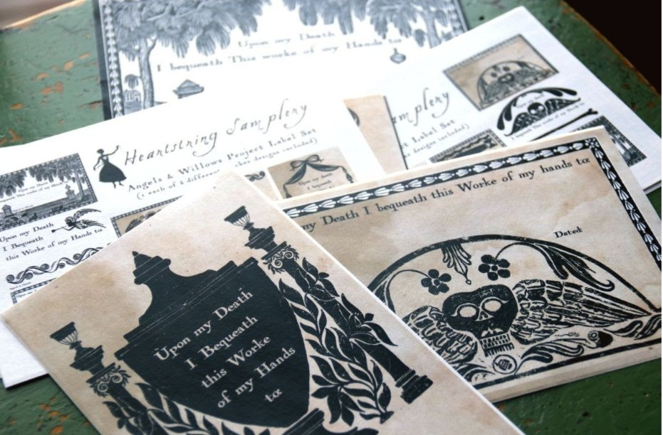 Heartstring Samplery - A Stitcher's Bequest Project Labels