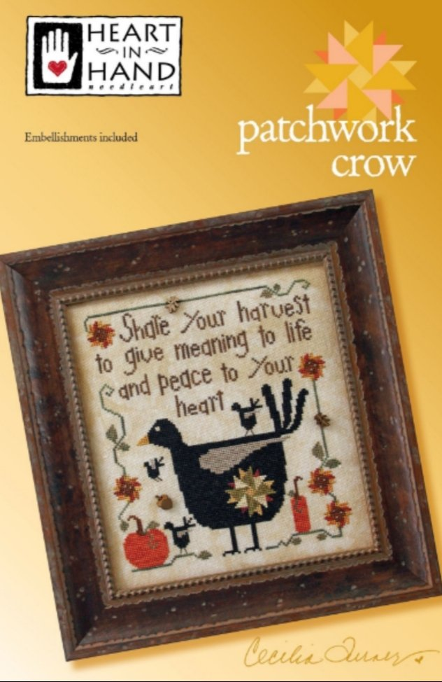 Heart in Hand - Patchwork Crow
