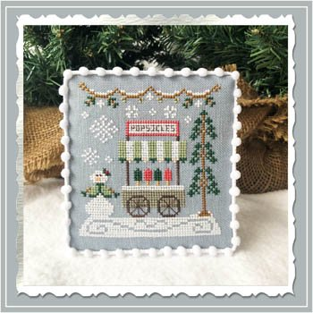 Country Cottage - Popsicle Cart Snow Village 6