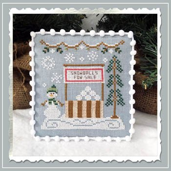 Country Cottage - Snowball Stand Snow Village #8
