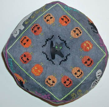 Praiseworthy Stitches - Spooky Biscornu