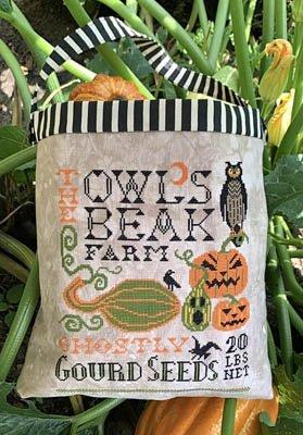 Carriage House Samplings - Halloween Seed Sack