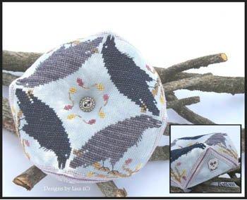 Designs by Lisa - Raven A-Round Biscornu