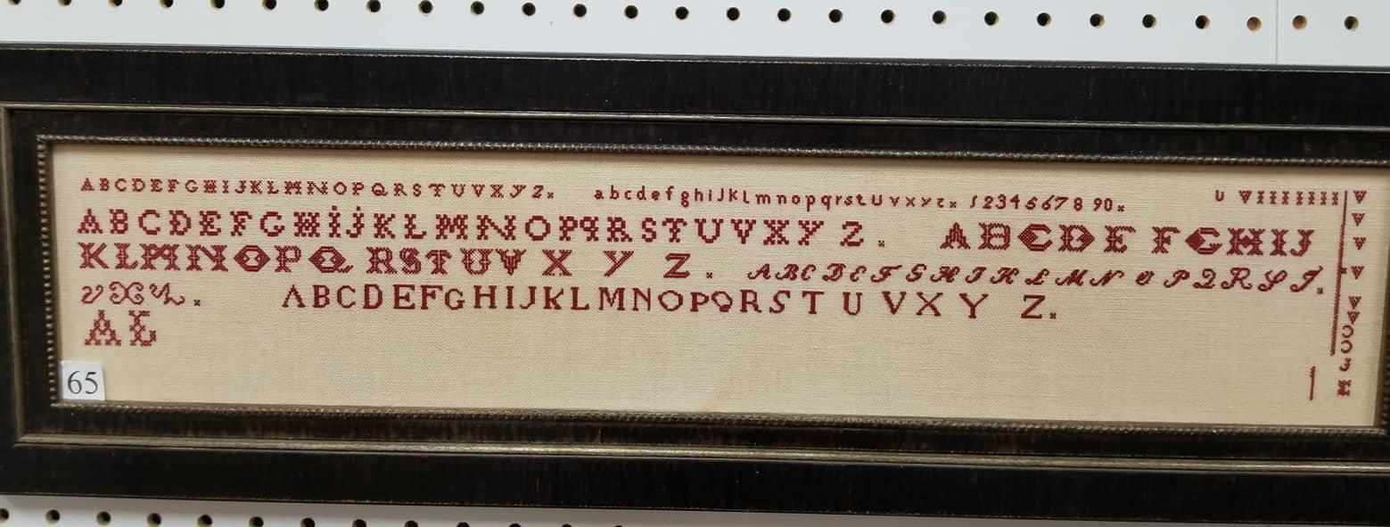 NeedleWorkPress - Six Red Alphabets